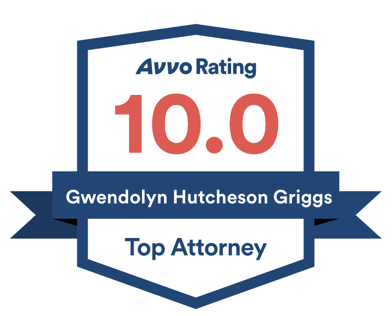 Avvo Rating 10.0 Top Attorney Badge for Gwen Griggs