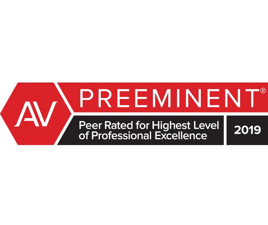 2019 AV Preeminent Peer Rated for Highest Level of Professional Excellence badge